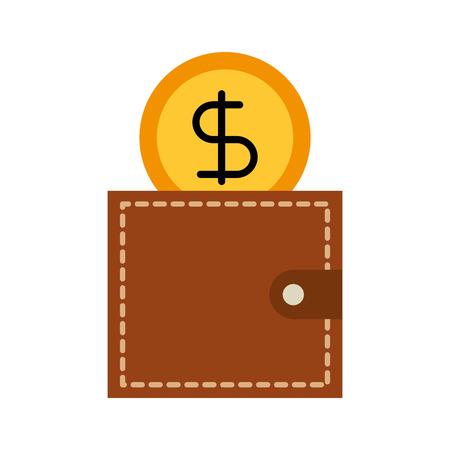 Cartera de negocios y dinero moneda ilustración vectorial Foto de archivo - 86319184