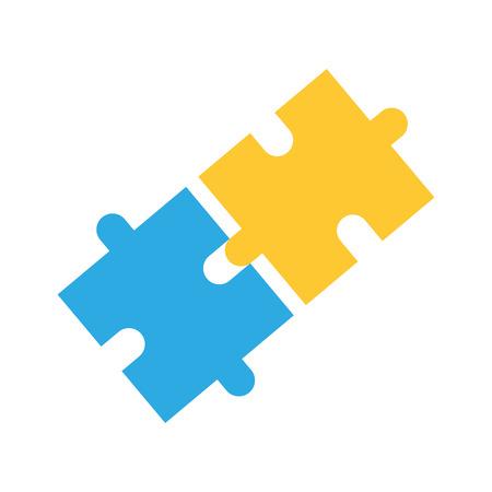 zakelijke puzzel puzzel strategie innovatie vectorillustratie