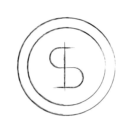 business coin money currrency banking vector illustration Ilustração