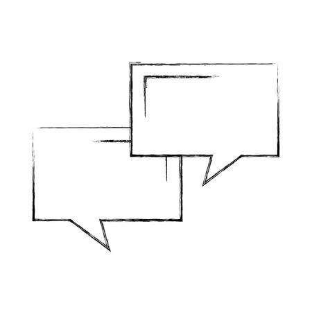 speech bubbles communication dialog message vector illustration Ilustrace