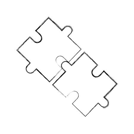 ビジネスパズルジグソーパズル戦略イノベーションベクトルイラスト  イラスト・ベクター素材