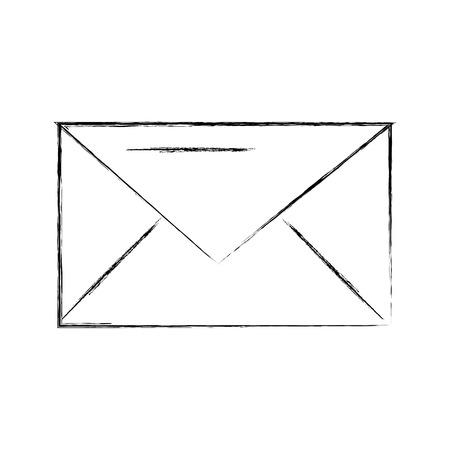 전자 메일 봉투 메시지 통신 닫기를 벡터 일러스트 레이션 스톡 콘텐츠 - 86319229