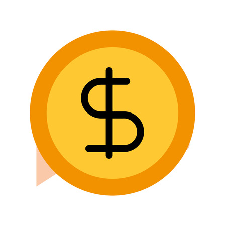 business coin money currrency banking vector illustration Ilustrace