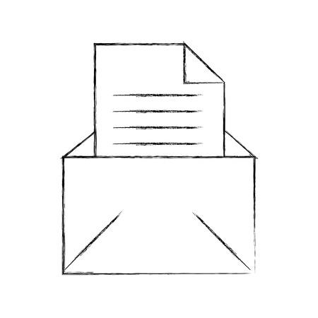 이메일 메시지 편지 봉투 열려있는 아이콘 벡터 일러스트 레이션