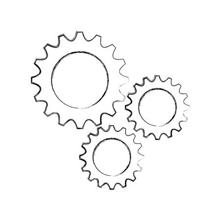 business gears mechanical solution teamwork concept vector illustration