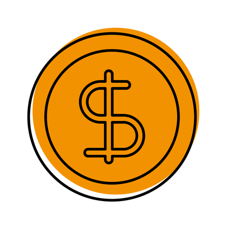 business coin money currrency banking vector illustration Illustration
