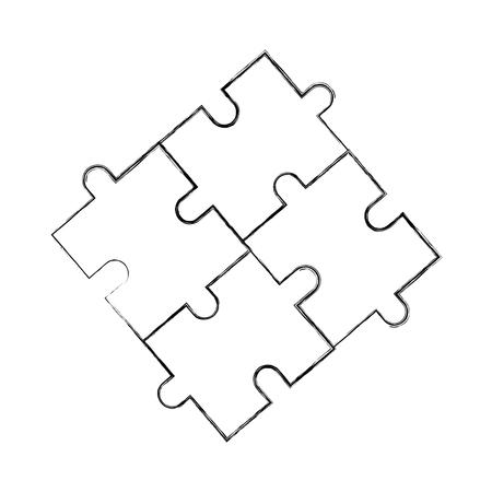 パズルピースビジネス進捗の成功コンセプトベクトルイラスト