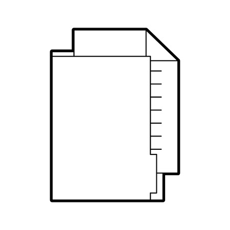 office folder file document paper information vector illustration