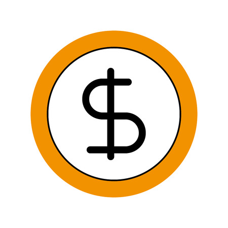 business coin money currrency banking vector illustration Reklamní fotografie - 86319328