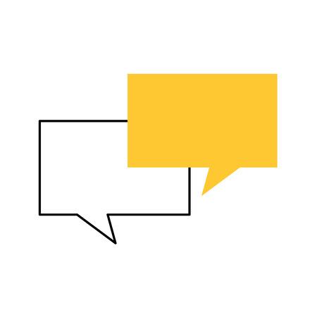 speech bubbles communication dialog message vector illustration Ilustração