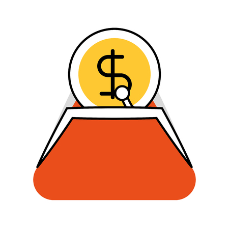 bank tassen dollar geld valuta contant vector illustratie