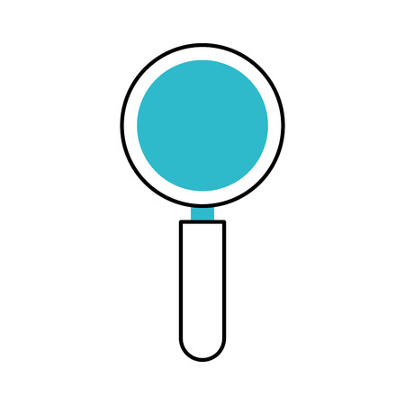 business magnifier research find creative icon vector illustration