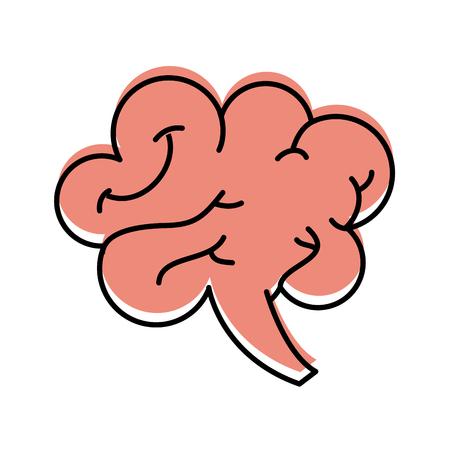 인간의 두뇌 마음이나 정보 아이콘 벡터 일러스트 레이 션 일러스트