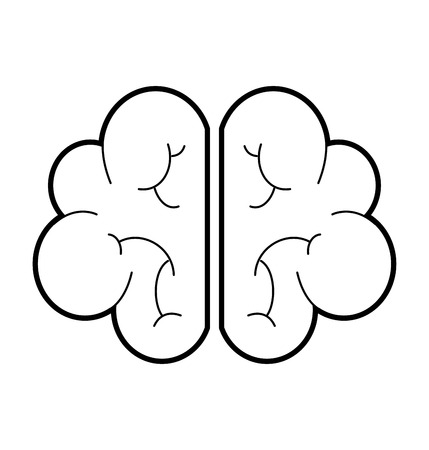人間の脳の心または知性アイコンベクトル図
