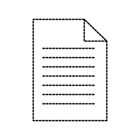 Documento de papel negocios archivo hoja vector ilustración Foto de archivo - 86319396