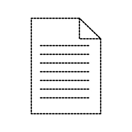 paper document business file sheet office vector illustration