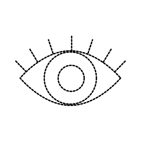 eye business look vision concept vector illustration