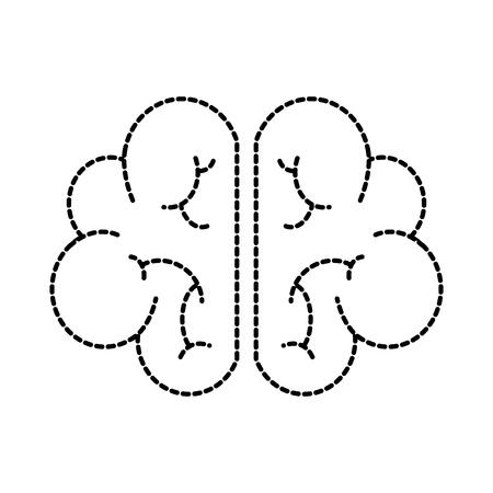 人間の脳の心や知性のアイコン ベクトル図  イラスト・ベクター素材