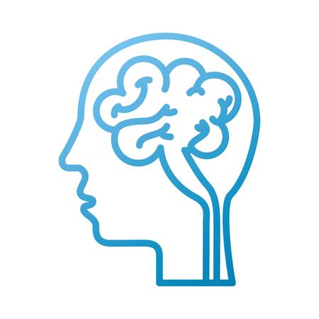 人間の頭と脳アイコンマインドコンセプトベクトルイラスト  イラスト・ベクター素材
