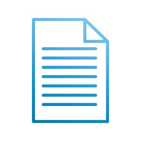 papieren document bedrijfslocatie kantoor vector illustratie