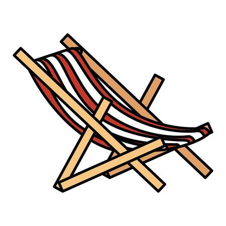 Silla de playa aislada icono de ilustración vectorial de diseño Foto de archivo - 86383869