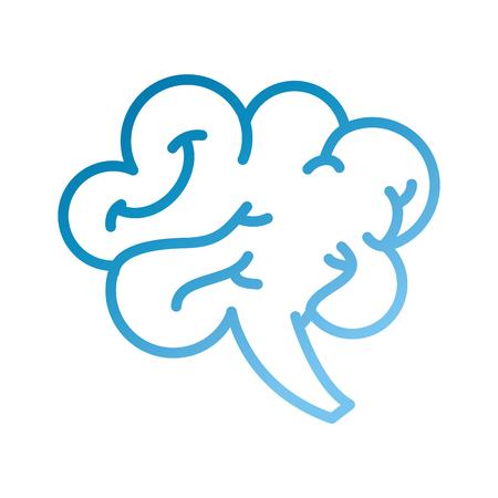 人間の脳の心や知性アイコンベクトルイラスト