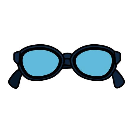 ontwerp van de het pictogram vectorillustratie van de zonnebril het zomer geïsoleerde
