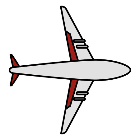 飛行機飛んで分離アイコン ベクトル イラスト デザイン