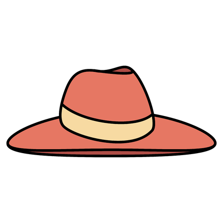 female beach hat icon vector illustration design