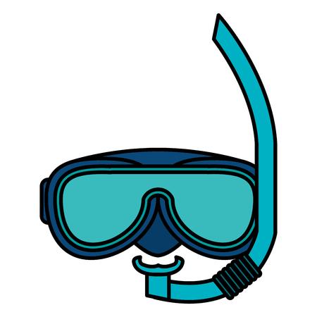 シュノーケルとグーグル分離アイコンベクトルイラストデザイン  イラスト・ベクター素材