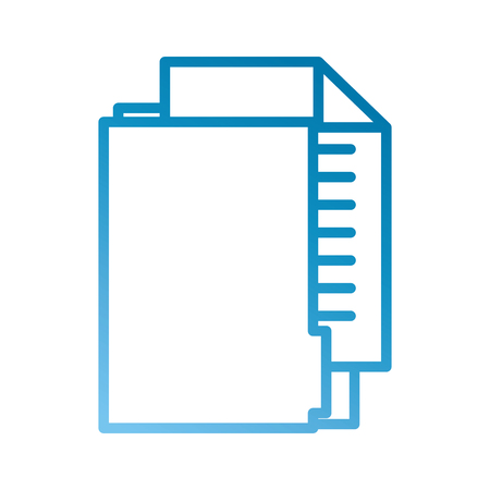 office folder file document paper information vector illustration