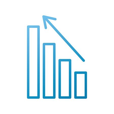 Gráfico de negocios con la ilustración de vector de datos financieros stock de flecha Foto de archivo - 86383914
