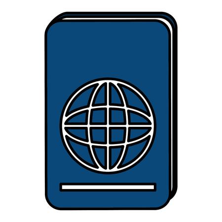 パスポート文書分離アイコンベクトルイラストデザイン