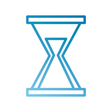 비즈니스 모래 시계 시간 카운트 다운 시간 벡터 일러스트 레이션