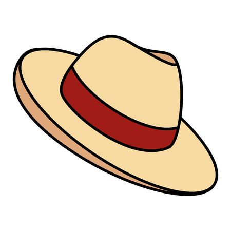 male hat summer icon vector illustration design Stock Photo
