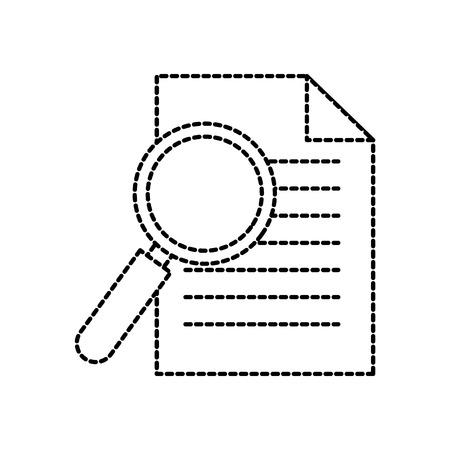 kantoor zakelijke papier en vergrootglas werk afbeelding vector illustratie Stockfoto