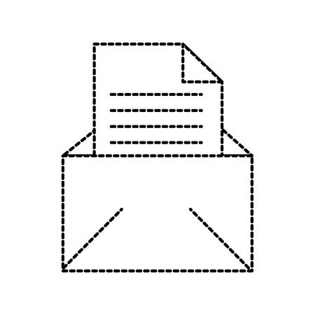 Illustrazione vettoriale di busta lettera lettera messaggio e-mail aperta Archivio Fotografico - 86383977
