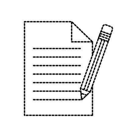 事務用紙・鉛筆供給文房具要素ベクターイラスト  イラスト・ベクター素材