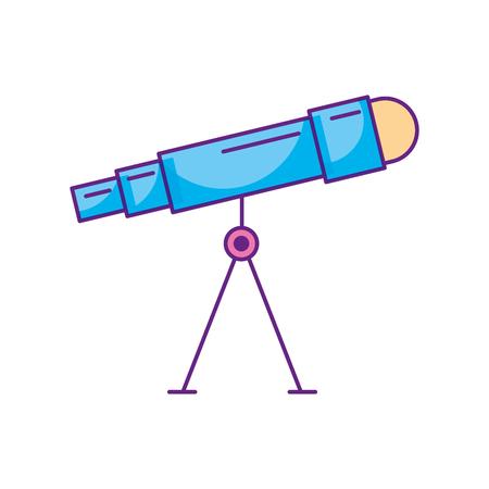 astronomie telescoop studie wetenschap universum vector illustratie Stock Illustratie