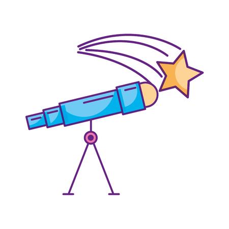 astronomy telescope star study science universe vector illustration