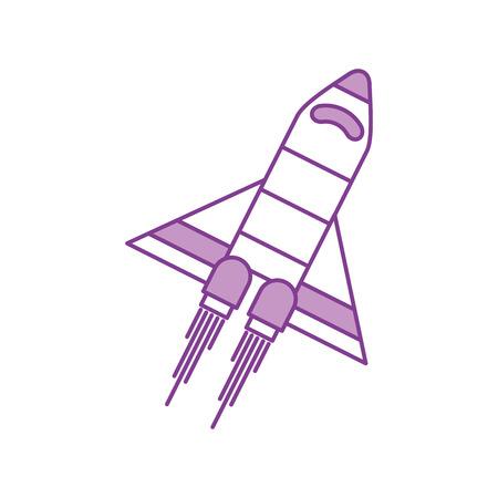 宇宙船旅行科学探査打ち上げロケット ベクトル イラスト