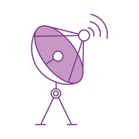 radar schotelantenne voor uitzending communicatie vectorillustratie Stock Illustratie