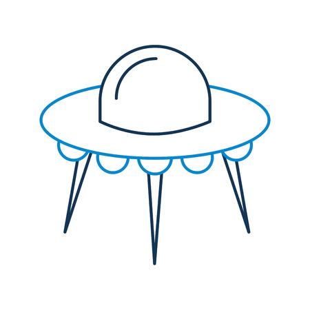 ufo flying saucer technology science transport vector illustration