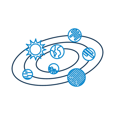 Planeta solar sistema galaxia planetas sol ilustración vectorial Foto de archivo - 86426558