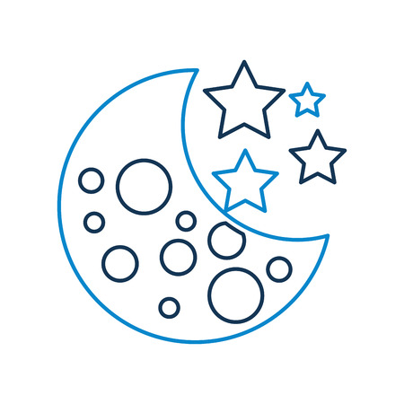 moon stars galaxy astronomy universe science vector illustration