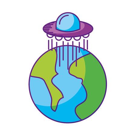 宇宙惑星地球空間ベクトル イラスト アイコン