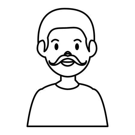 젊은 남자 아바타 캐릭터 벡터 일러스트 디자인 스톡 콘텐츠 - 86426640