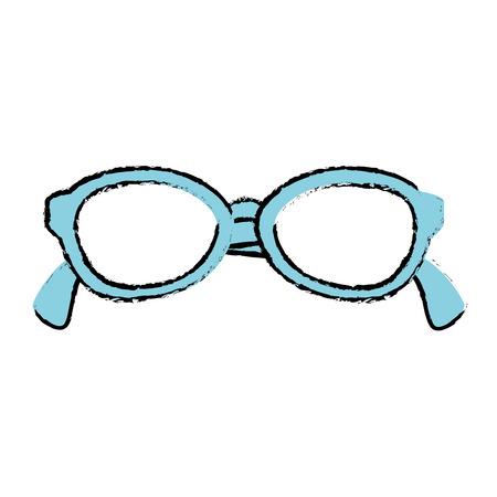 Het pictogramontwerp van oogglazen geïsoleerd pictogram Stockfoto - 86426664
