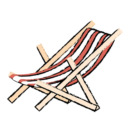 beach chair isolated icon vector illustration design