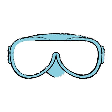snorkel googles isolated icon vector illustration design Illustration